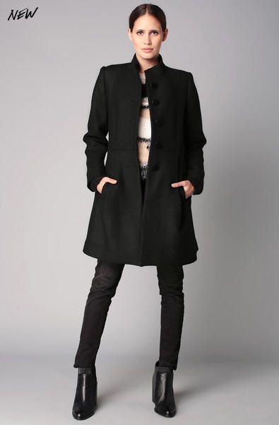 Manteau noir et blanc de Sinéquanone