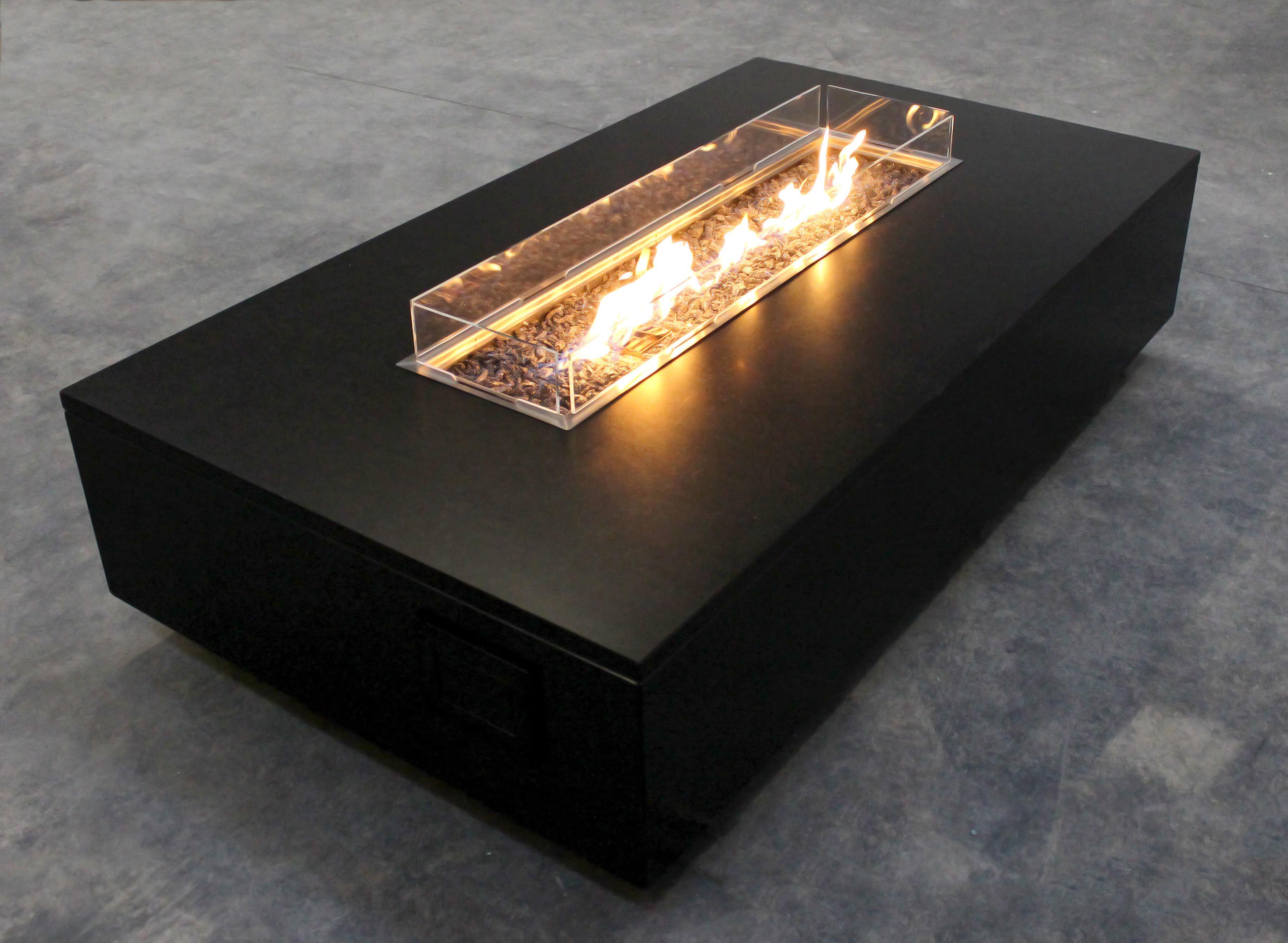 The Krakatoa - Floating Granite Linear Fire Table | Fire ...