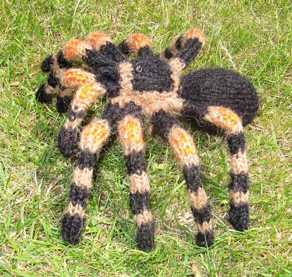 Knitting Pattern Digital Pdf Download My Pet Tarantula Toy Spider