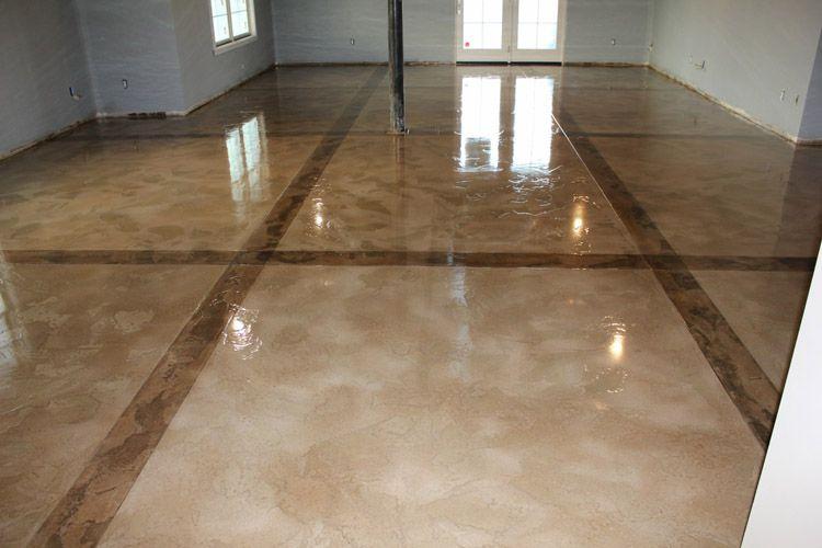 Residential Basement Epoxy Top Coated Unique FlooringDiy