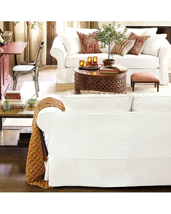 Vintage Vogue Sofa Slipcover Special Order Fabrics Ballard Designs Slipcovered Sofa Slipcovers Office Furniture Modern