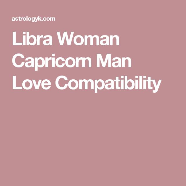 Capricorn man with libra woman