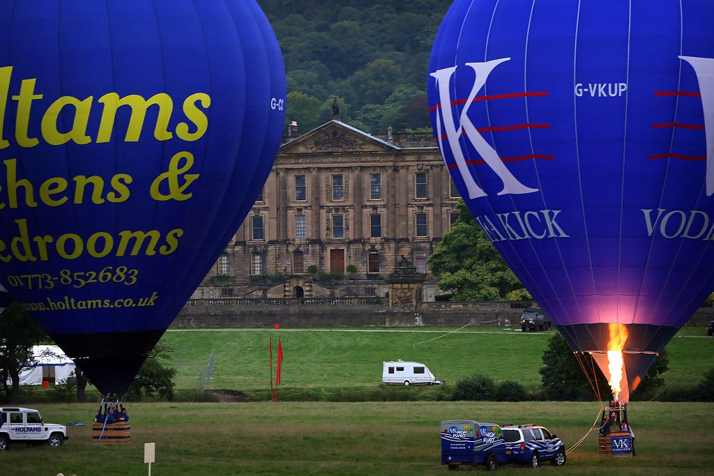 Views Over Chatsworth House From A Hot Air Balloon
