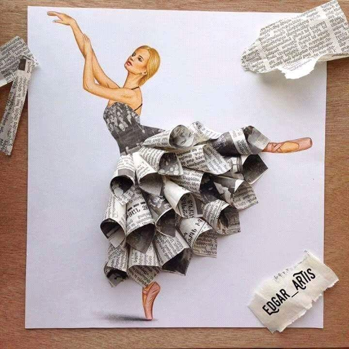 Diy paper cone crafts dancing lady made from waste newspaper