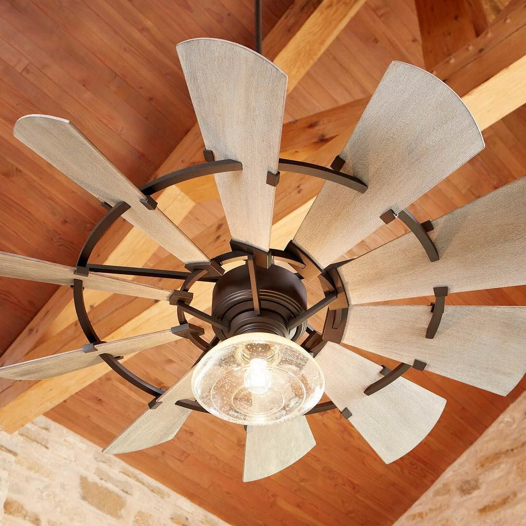 This Indoor Ceiling Fan From The Windmill Collection By Quorum