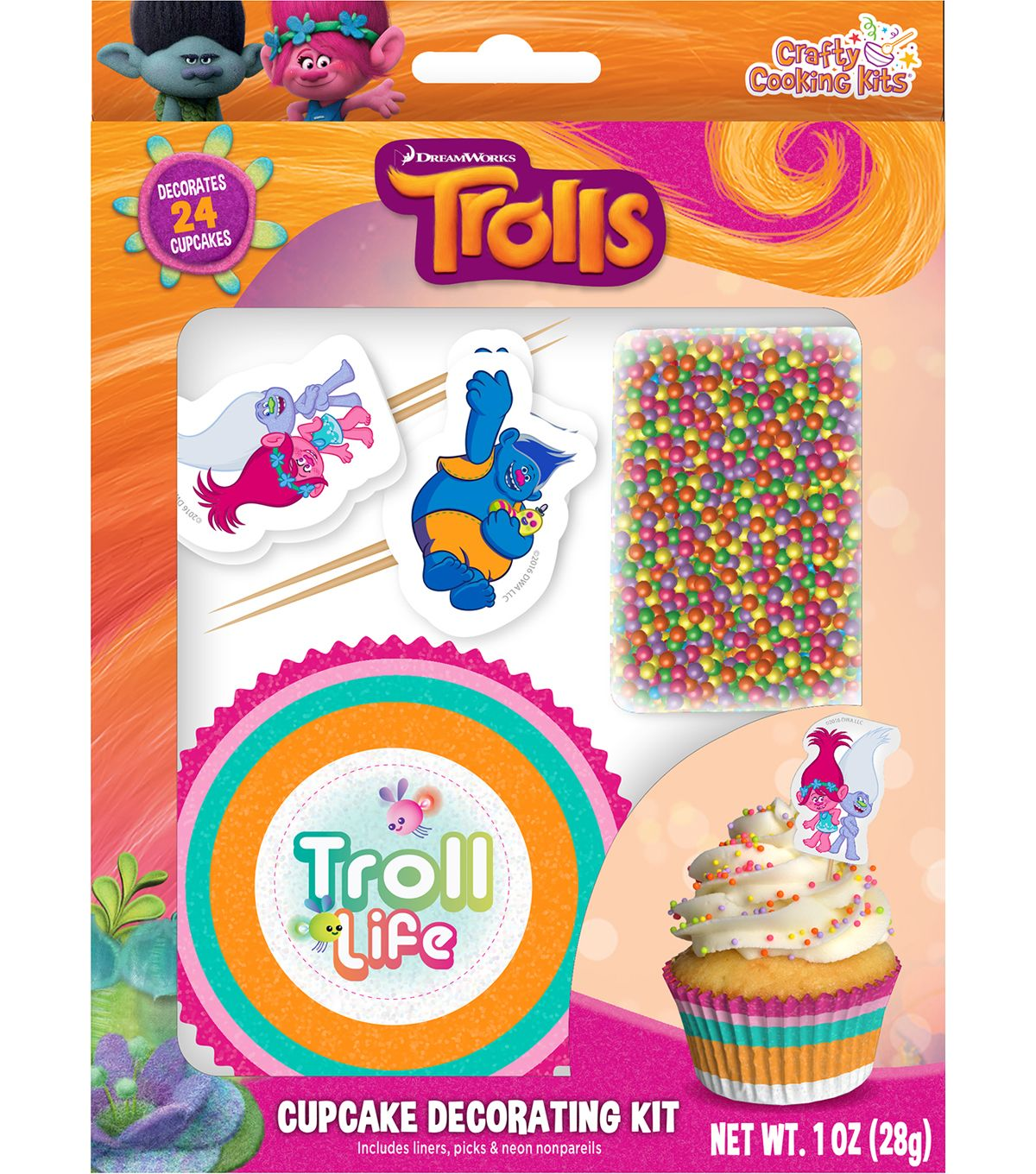 Dreamworks Trolls Cupcake Decorating Kit Trolls Pinterest