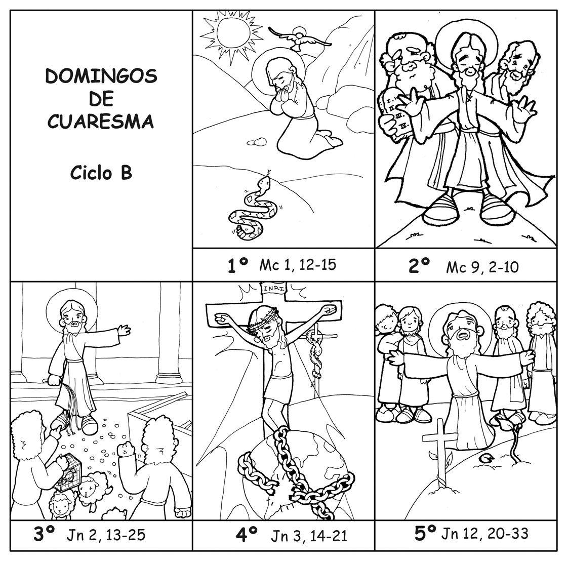 DOMINGOS DE CUARESMA – CICLO B para pintar. | horaciones | Pinterest ...