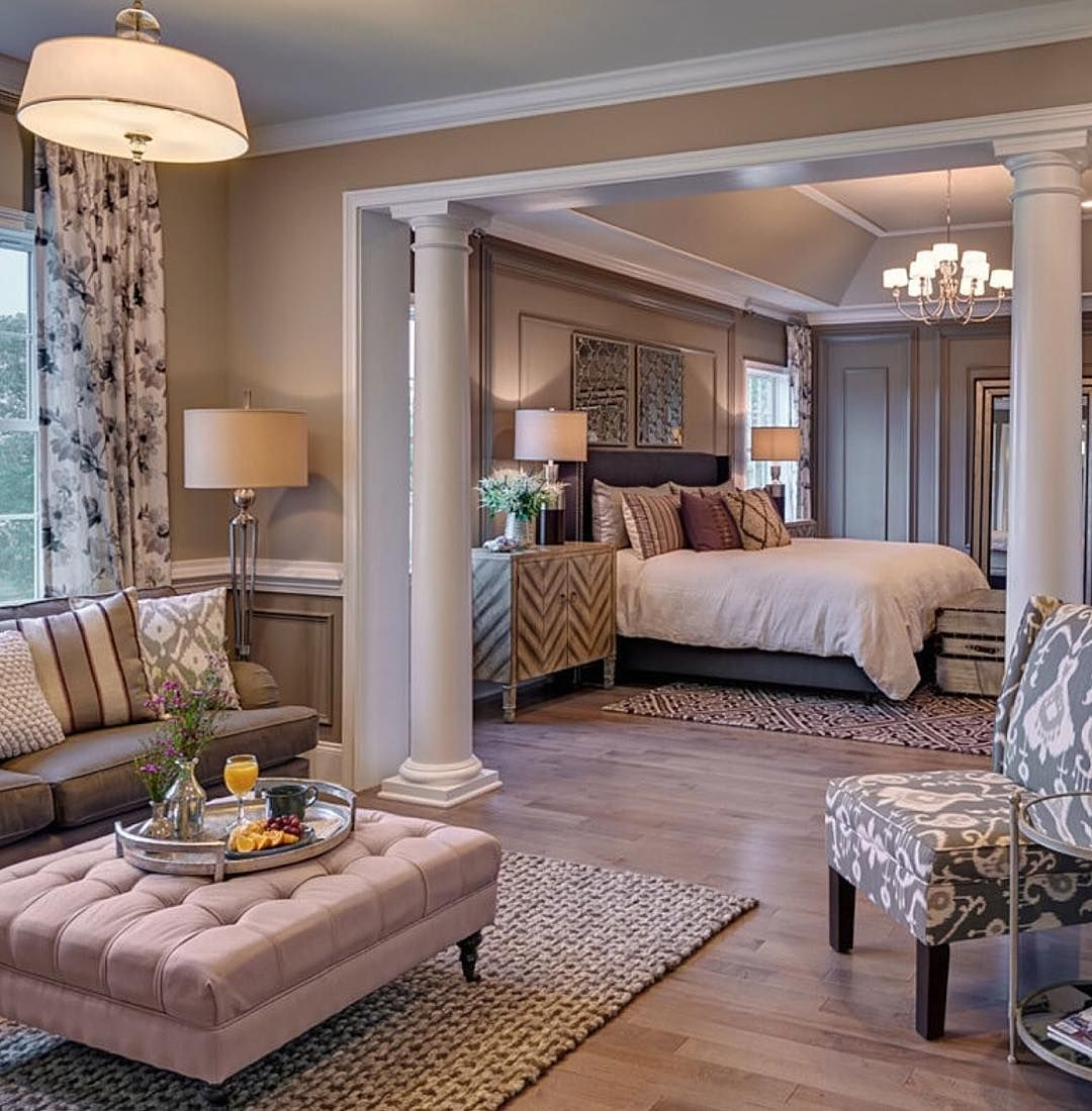 Mansion Master Bedroom: Warm And Inviting Master Suite By The Incredibly Talented