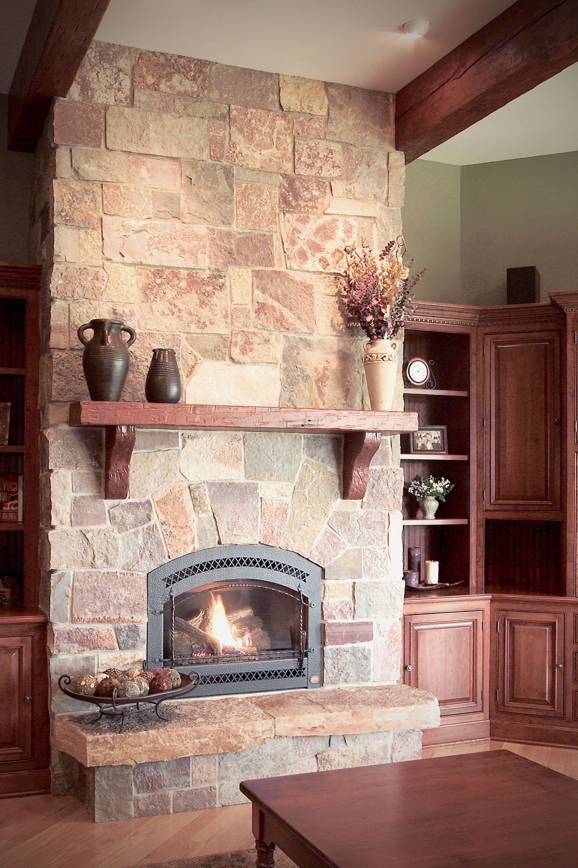 Full Color Castle Rock Castle Stone Full Thin Stone Veneer Home Fireplace Home Indoor Fireplace
