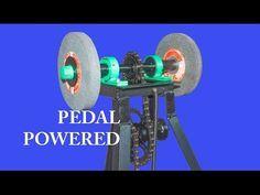 Superb Single Pedal Powered Grinder Diy Youtube Diy Metal Machost Co Dining Chair Design Ideas Machostcouk