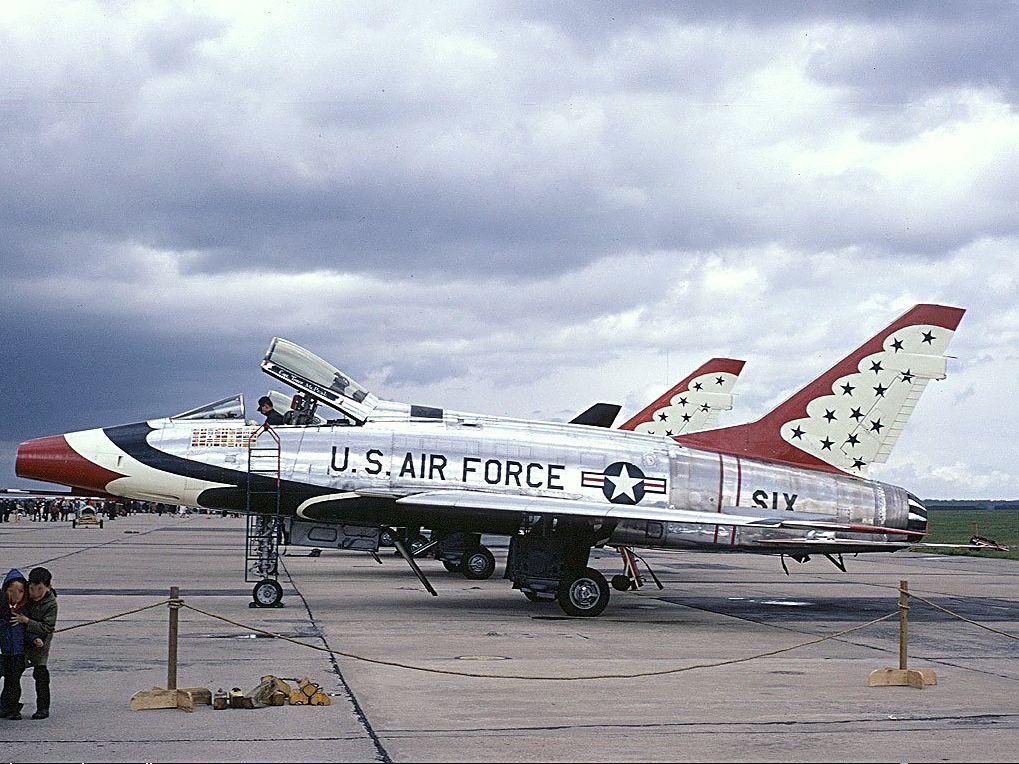 Straaljagers USAF North American F100D Super Sabre 1957