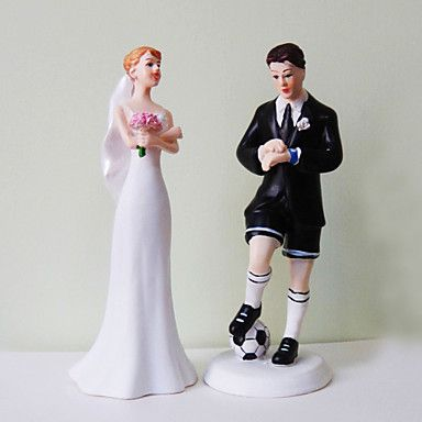 Cake Toppers Soccer Groom Exasperated Bride Topper