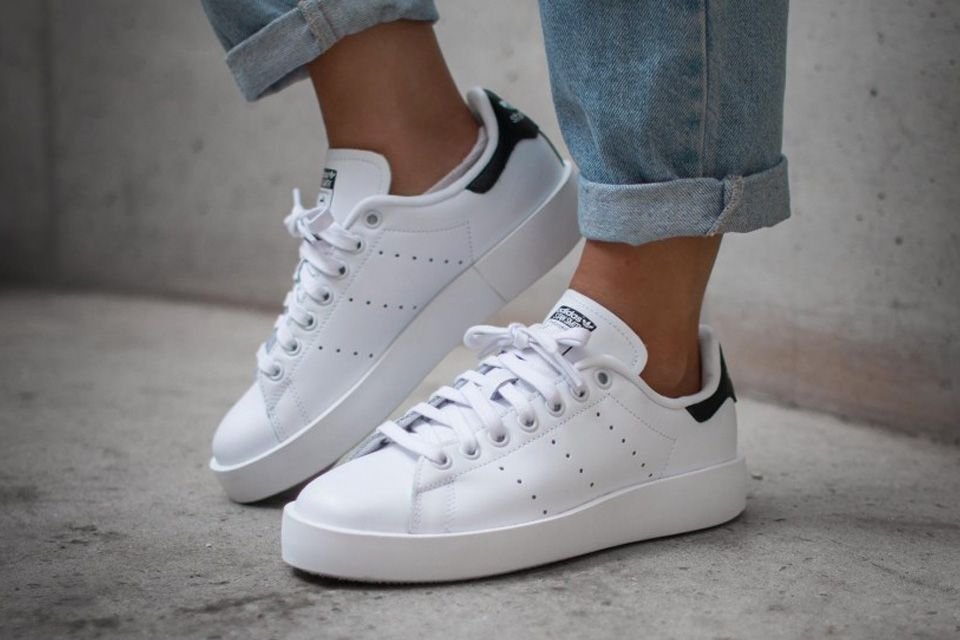 aa297b9cbe33a5 The adidas Originals Stan Smith sees the fresh kicks get a somewhat  90s  revamp with an all-new platform outsole.