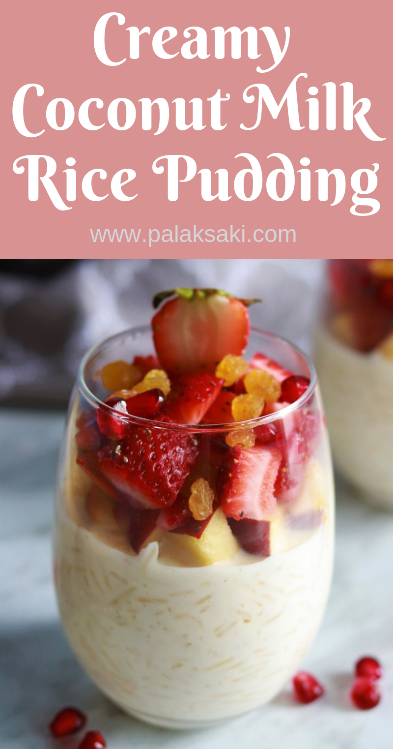 Creamy Coconut Milk Rice Pudding | Recipe | Coconut milk ...