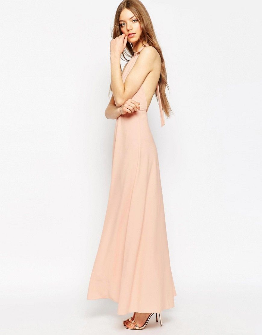 987b42949ca ASOS Halter Neck Maxi Dress
