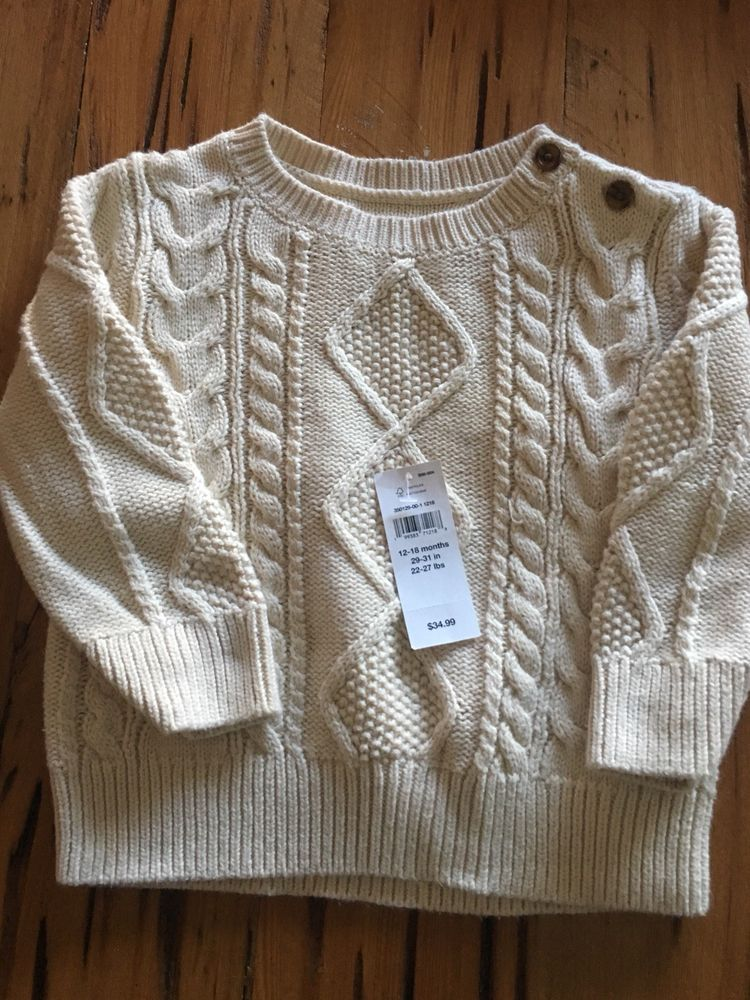 4a128b85e06d Baby Gap - 12-18 Months Toddler Boy Cable Knit Pullover Sweater ...
