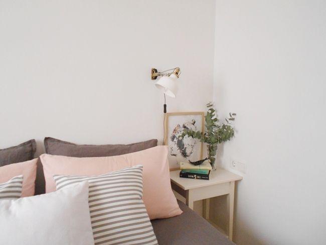 Decorar piso de alquiler mi habitaci n en blanco rosa y for Decoracion habitacion nina gris y rosa