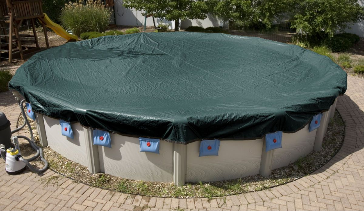 Above ground winter pool covers for round oval pools