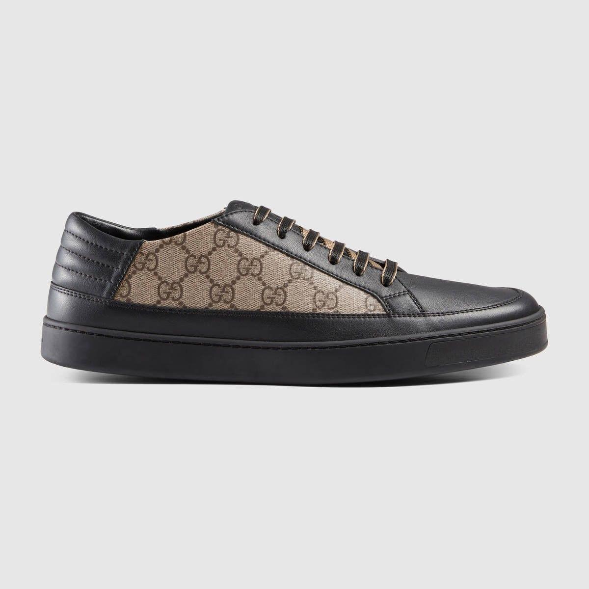Gucci Gg Supreme Sneakers In Beige Nero