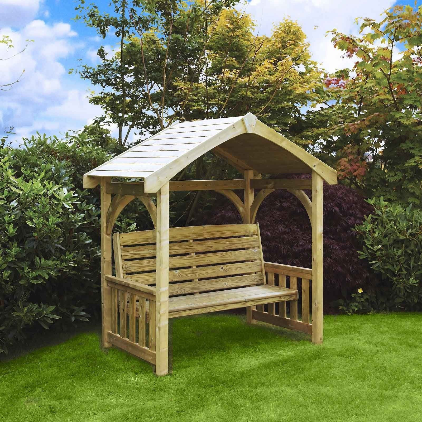 Wooden Appleton Arbour in 2020 Backyard seating area