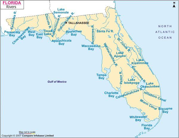 Floridas Rivers Floridas Beautiful Sites Pinterest Rivers - Map of florida lakes