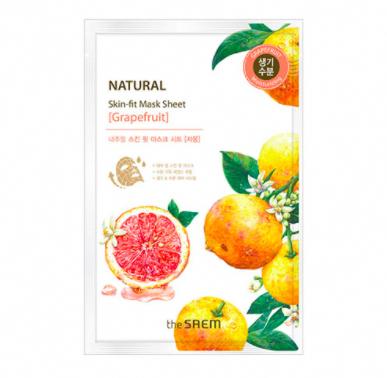 Photo of The Saem Natural Grapefruit Mask Sheet #GreenTeaMaskAcne