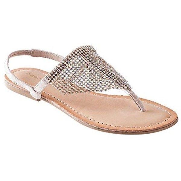 3cbdc8ab440ee Madden Girl Women s  saandie  Rhinestone Hooded Flat Thong Sandals ( 29) ❤  liked