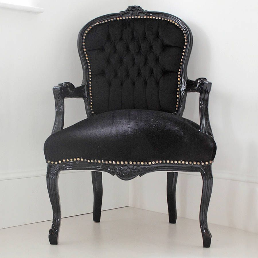 Black And Velvet Bedroom Chair  Bedroom chair, Blue velvet chairs