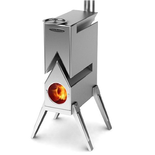 This tiny portable Wood Burning Stove CHEVRON, thanks to its complex shape  and high alloy - This Tiny Portable Wood Burning Stove CHEVRON, Thanks To Its