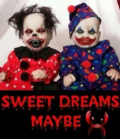 creepy clown dolls creepy pinterest halloween kost m halloween and puppen. Black Bedroom Furniture Sets. Home Design Ideas