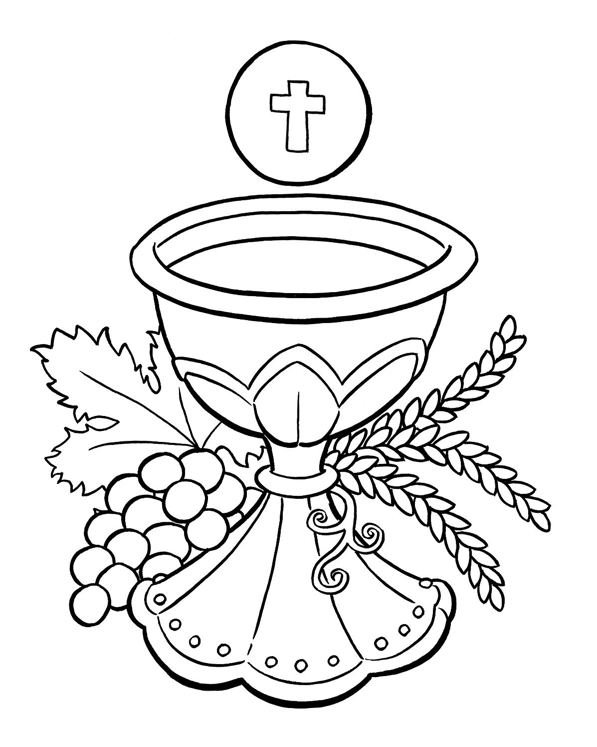 eucharist coloring pages for children - photo#4