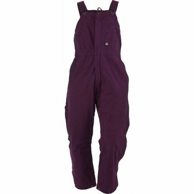 berne women s washed plum duck quilt lined insulated bib on womens insulated bib overalls id=55860