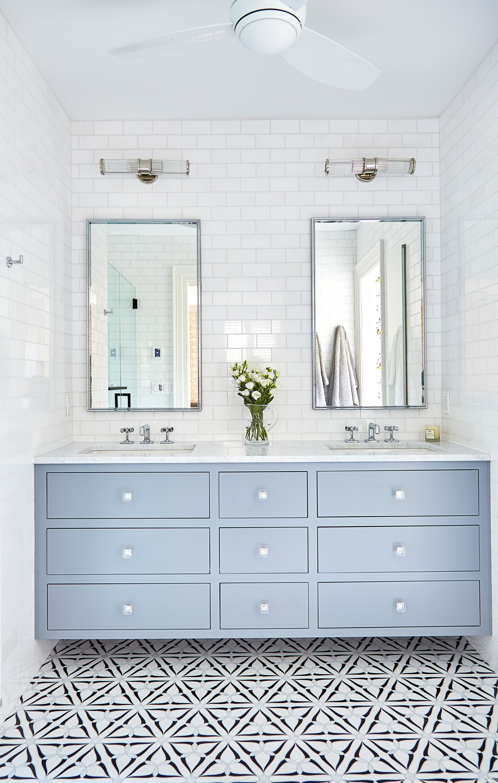 Burano Black White Double Vanity Bathroom Bathroom Interior