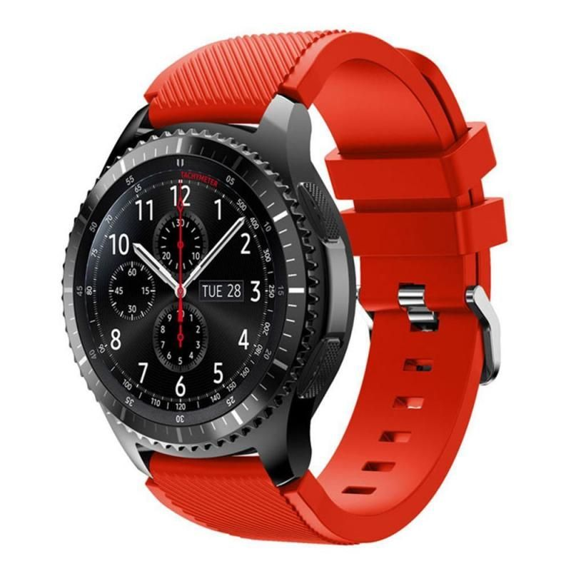 Samsung Gear S3 Frontier Classic Replacement Band Silicone Bracelet Watch Strap Red Samsung Watches Watch Bands Gear S3 Frontier