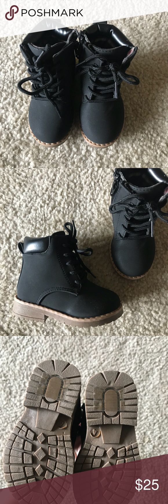 Infant black boots Infants black boots