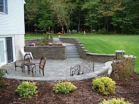 Walkout basement patio on pinterest walkout basement for Walkout basement backyard ideas