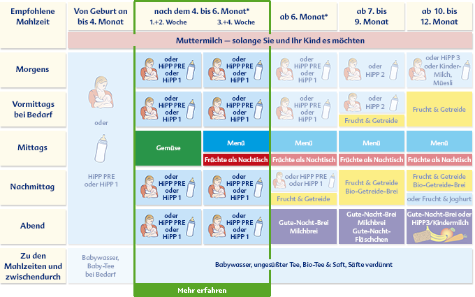 HiPP: Nach dem 4. bis 6. Monat | Baby basics | Baby hacks ...