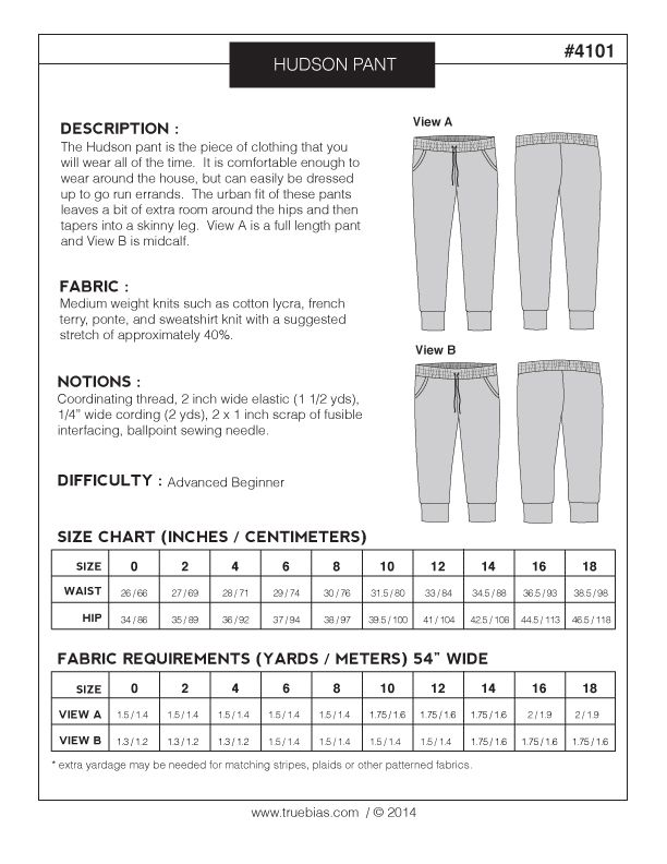 Hudson pant (pdf) | Sewing : Clothes | Pinterest | Costura, Ropa and ...