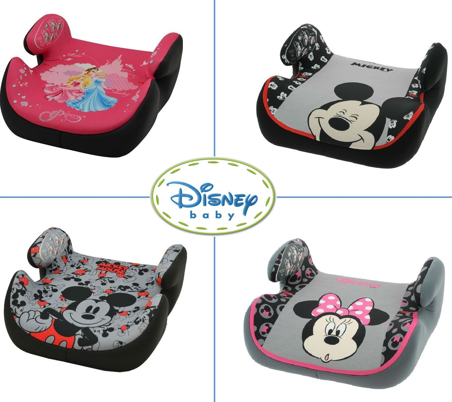 15-36kg Disney Princess Silla de coche para Bebe elevador TOPO grupo 2//3