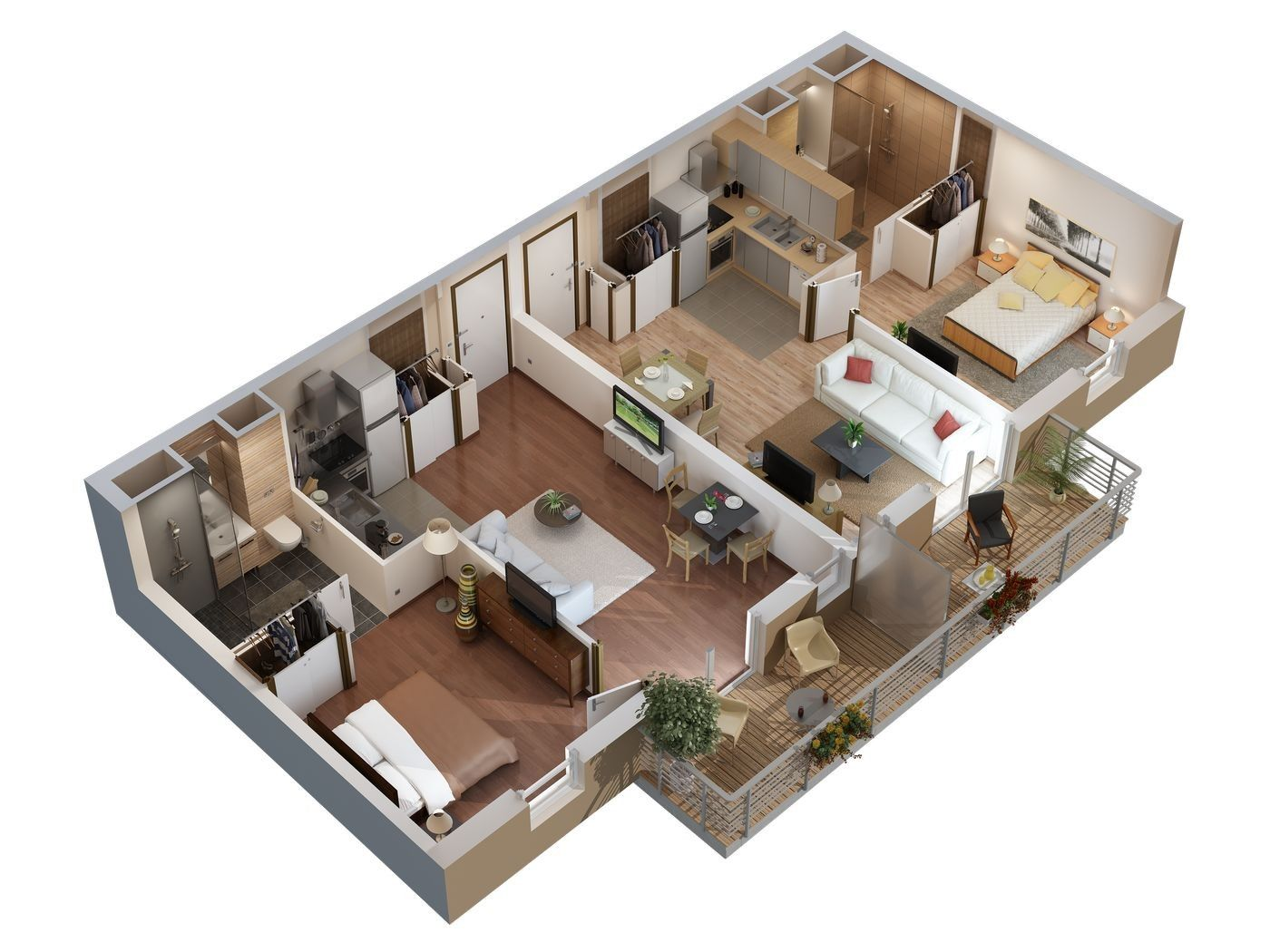 Plan 3d appartement plans de vente pinterest film et 3d for Plans de maison 3d