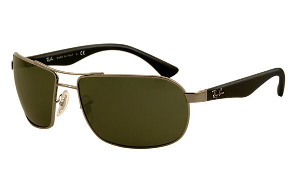 Ray Ban 0rb3492 Rb3492 Rb3492 004 62 16 Gunmetal Black Sun Sunglasses Ray Ban Sunglasses Square Sunglass