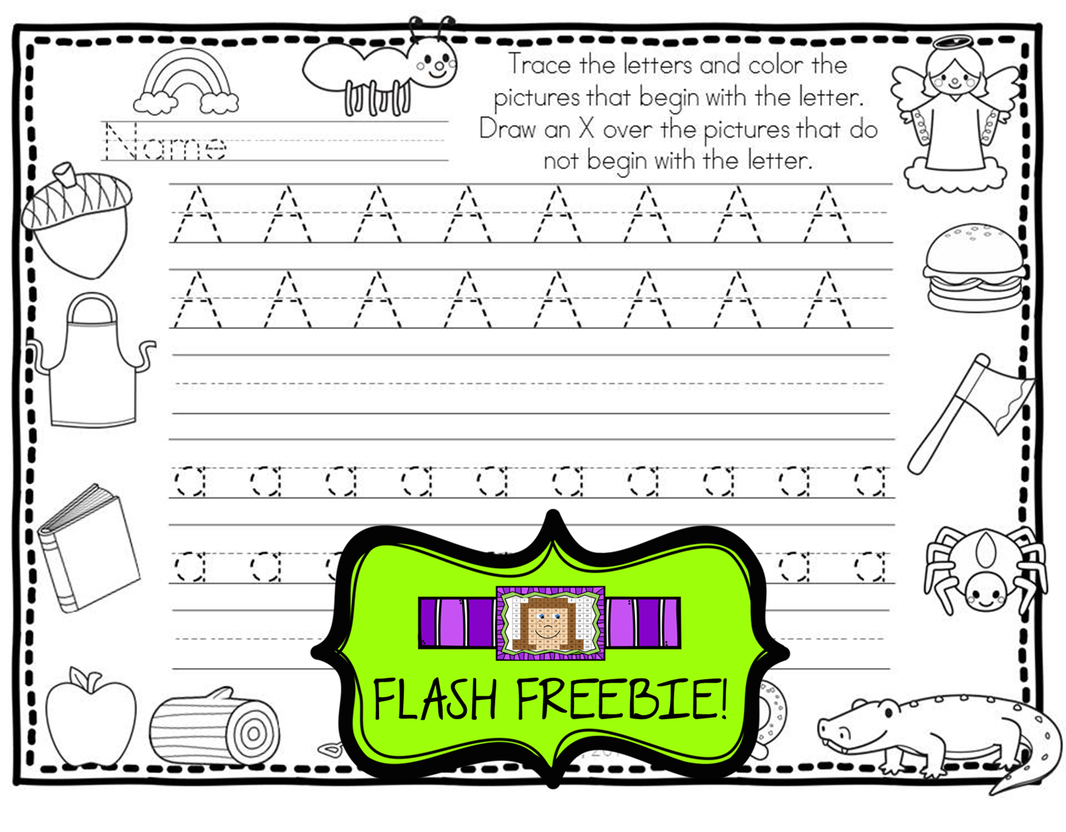 Flash Freebie Happy Handwriting Coloring And