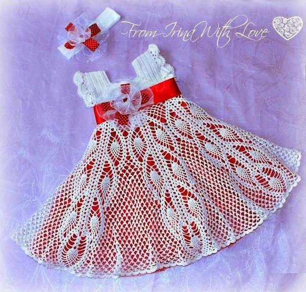 Resenha Vestido Infantil Em Crochê Roupas De Crochê Para