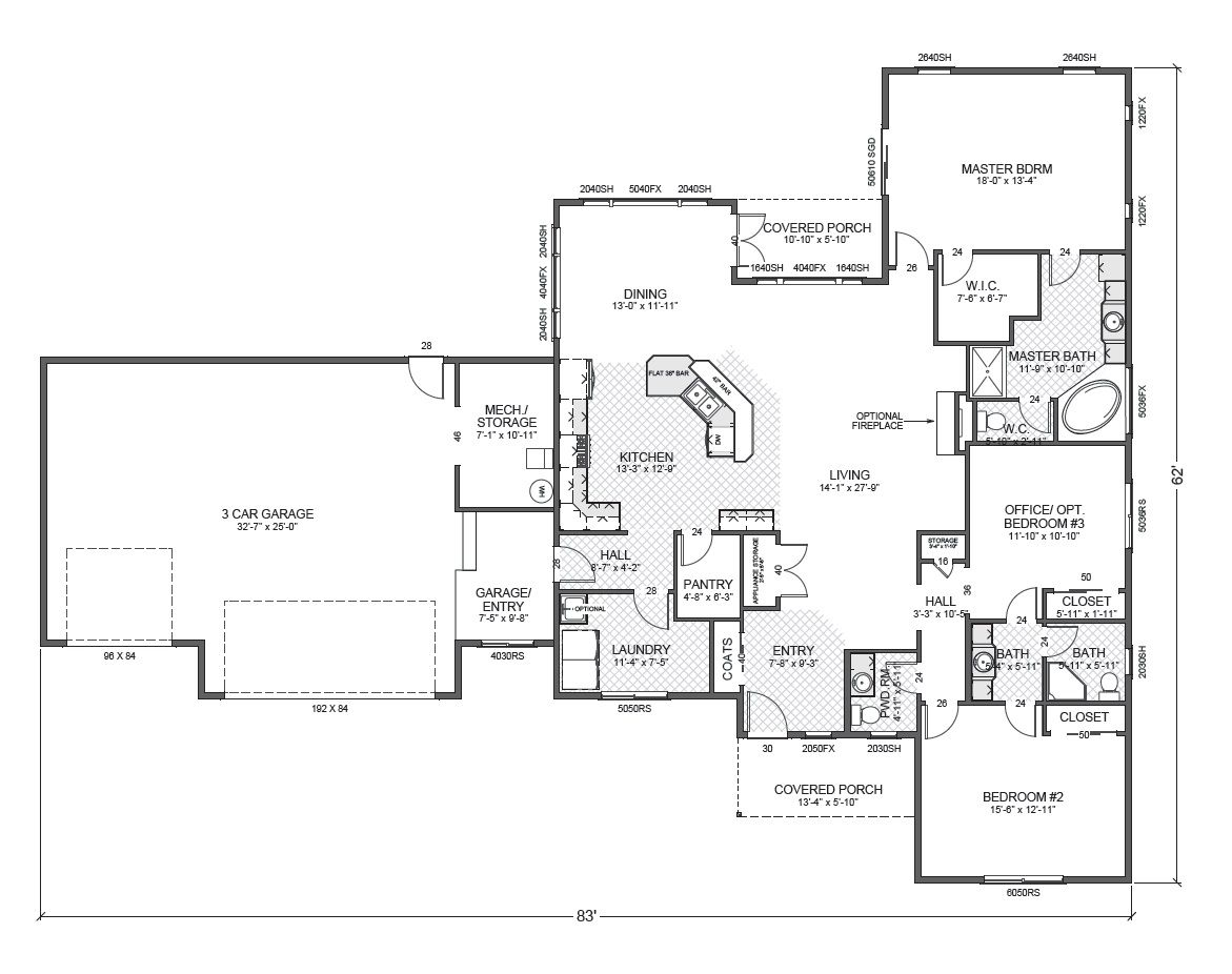 Branford Park True Built Home Rambler House Plans House Floor Plans Simple Floor Plans
