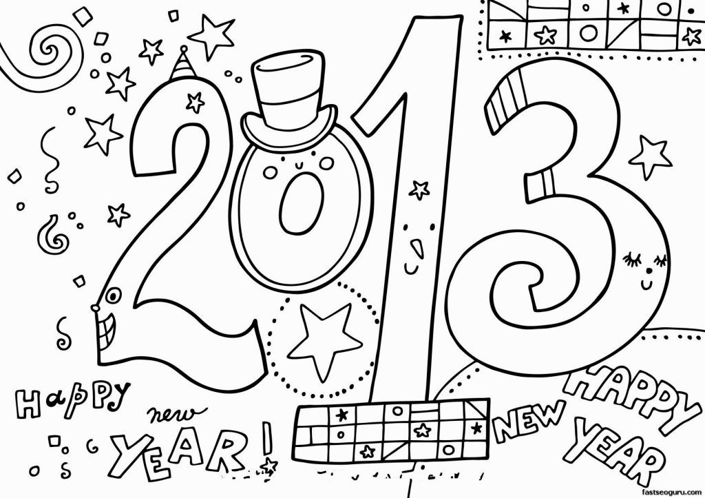 New Year Coloring Pages New Year