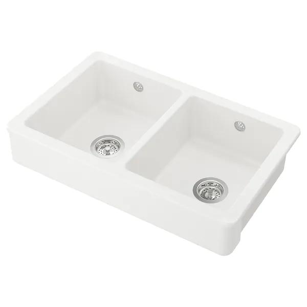 Havsen Zlew 2 Kom Z Widocznym Frontem Bialy Dodaj Do Koszyka Ikea Kitchen Sink Accessories Sink Accessories Kitchen Taps