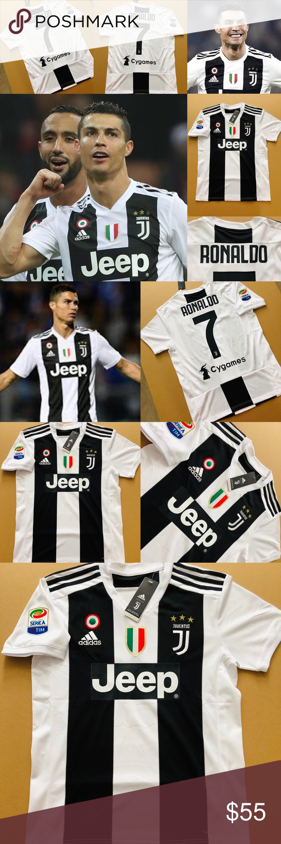 f3f26d75d0e 2019 Ronaldo  7 Juventus Home Soccer Jersey CR7 2019 Juventus F.C. Cristiano  Ronaldo  7 Adidas Classic Juventus Jersey Brand New ~ SMALL ~ Men s Soccer  ...