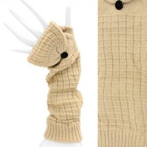 Fingerless Gloves Elbow Length w/ Mitten Finger Cover Beige One Size   http://stores.ebay.com/beachcats-bargains  beachcats bargains
