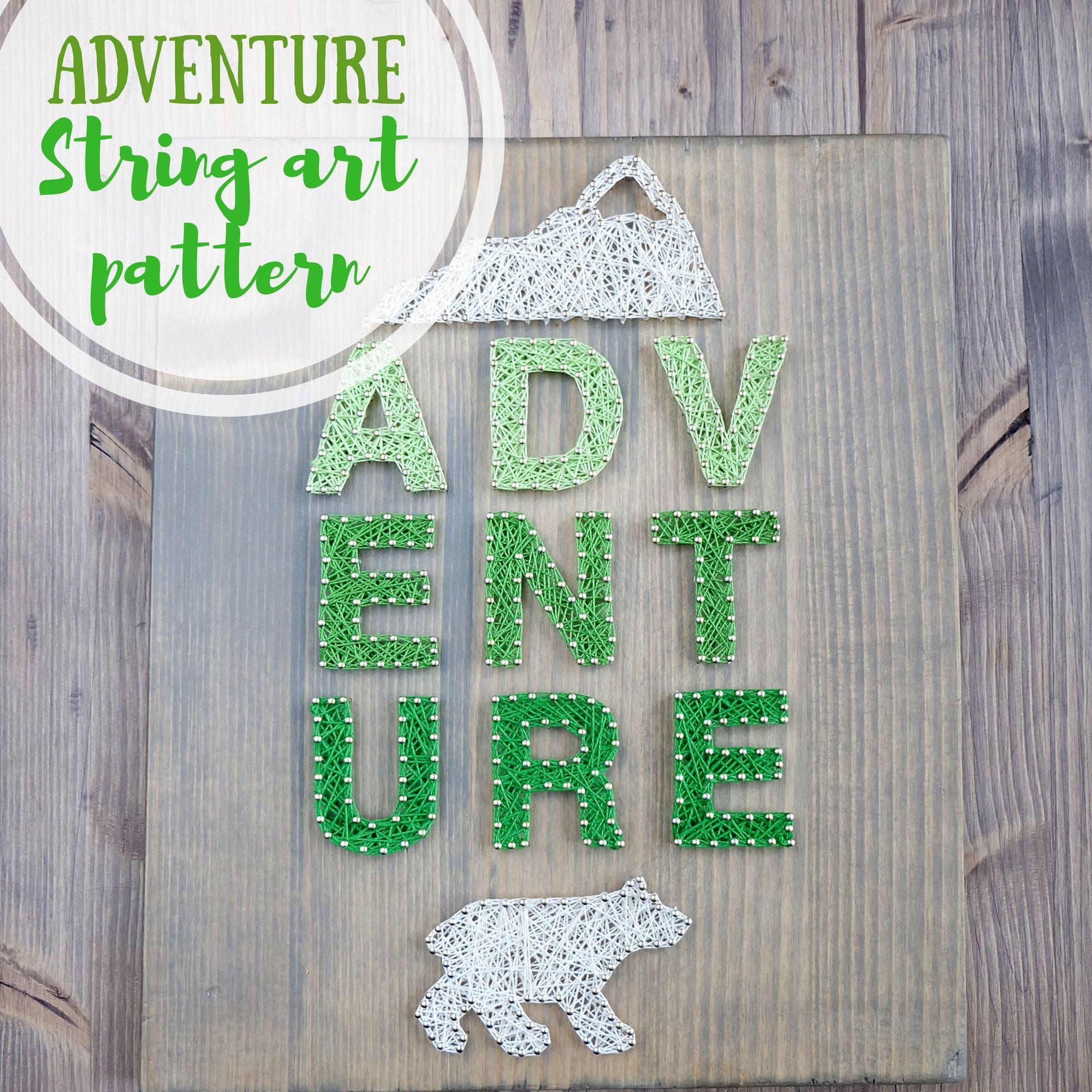 Adventure String Art Pattern Digital , At Least 63 X
