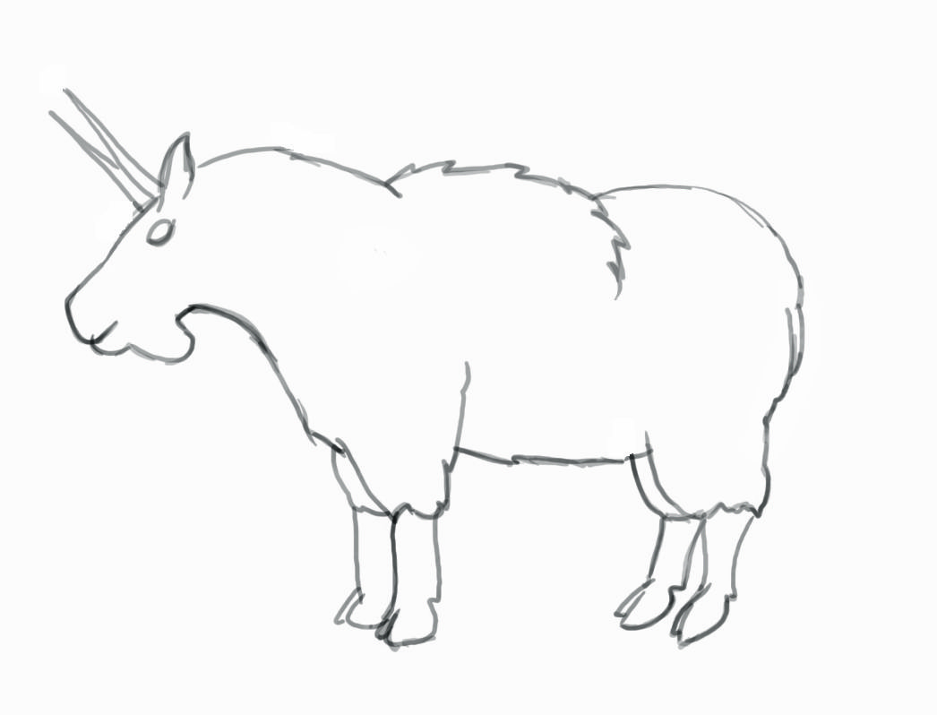 Image Result For How To Draw A Goat Step By Step